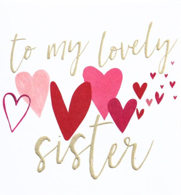 lovely sister card by caroline gardner