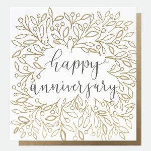 happy anniversary card by caroline gardner