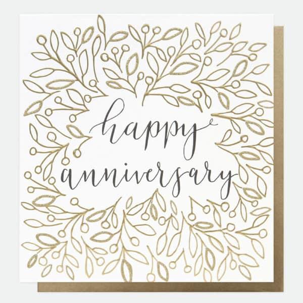happy anniversary card by caroline gardner