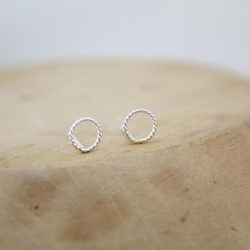 sterling silver twisty studs by lucy kemp jewellery