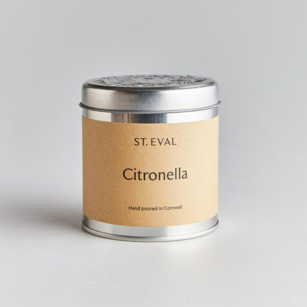 citronella scented candle tin by st eval
