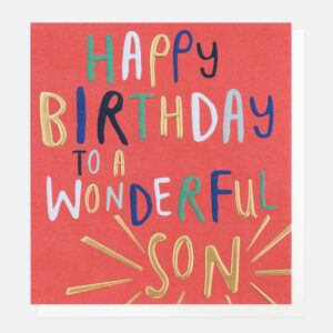 happy birthday son card by caroline gardner
