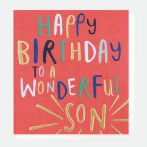 happy birthday son card by caroline gardner