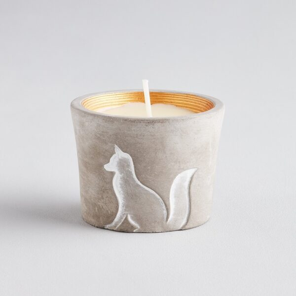 winter thyme scented fox candle pot by st Eval candles