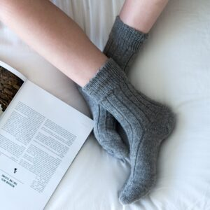grey alpaca bed socks by tom lane