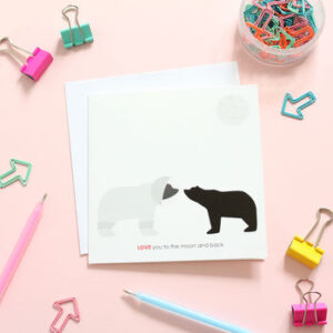 love you to the moon card by heather alstead design