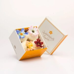 flower bath cupckaes gift box by quintessentially english