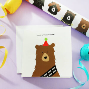happy birthday chew card by heather alstead design