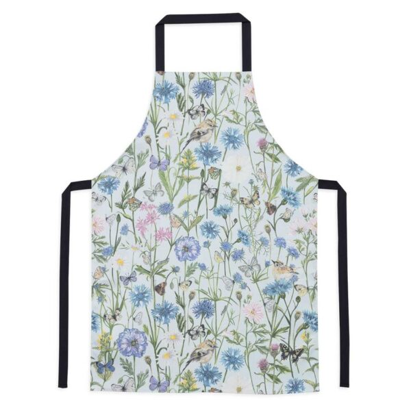goldcrest & cornflower apron by particle press