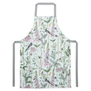 longtail & foxglove mint apron by particle press