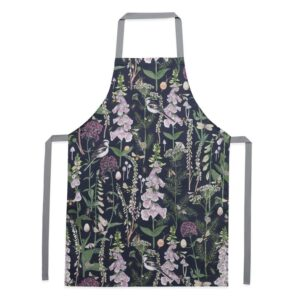 longtail & foxglove navy apron by particle press