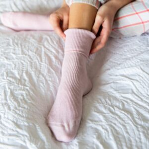 pink cashmere socks by tom lane