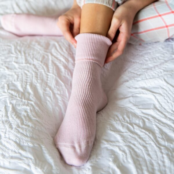 pink cashmere socks by tom lane