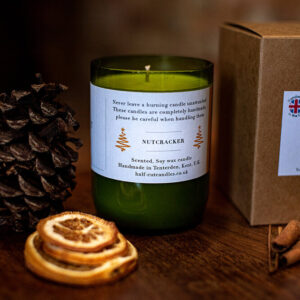 Nutcracker candle by half cut candles