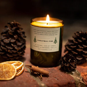 Christmas pine soy candle by half cut candles