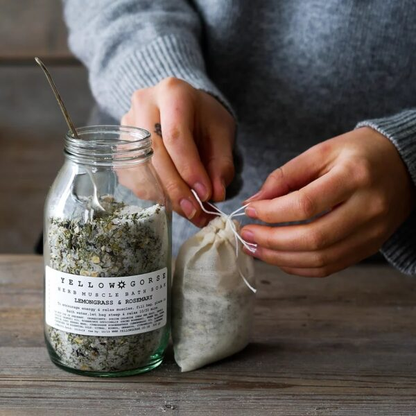 energising muscle relief bath soak by yellow gorse