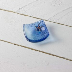 starfish earring dish by jo downs glass