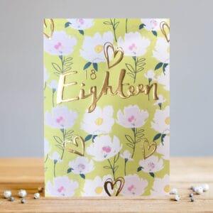 Eighteen Floral Green crad by louise tiler