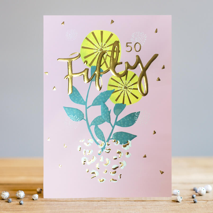fifty card by louise tiler