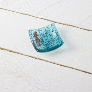 samphire seahorse earring dish by jo downs glass
