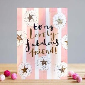 fabulous friend card by louise tiler