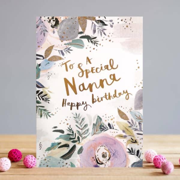 Nanna Floral card by louise tiler