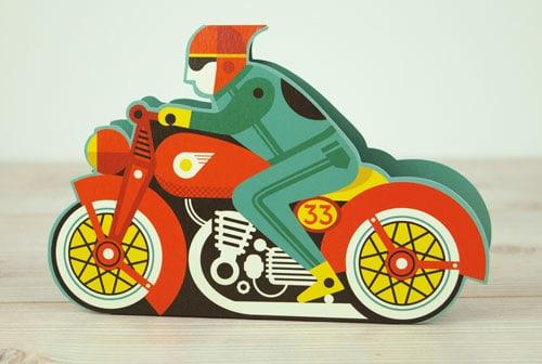 Die cut motorbike by Tom Frost