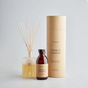 orange & cinnamon reed diffuser by st eval