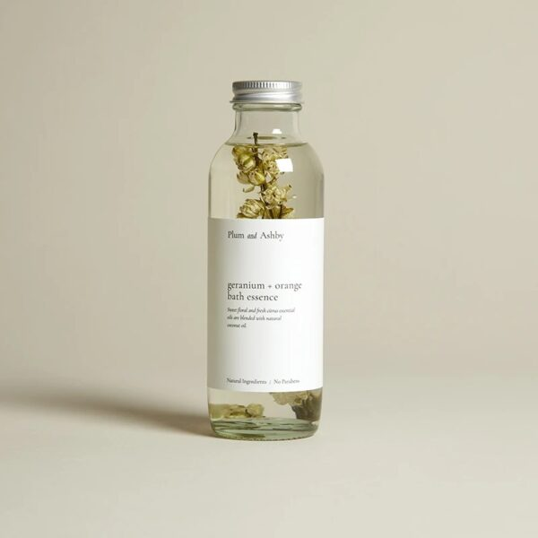 Geranium & Orange Bath Essence by plum & ashby