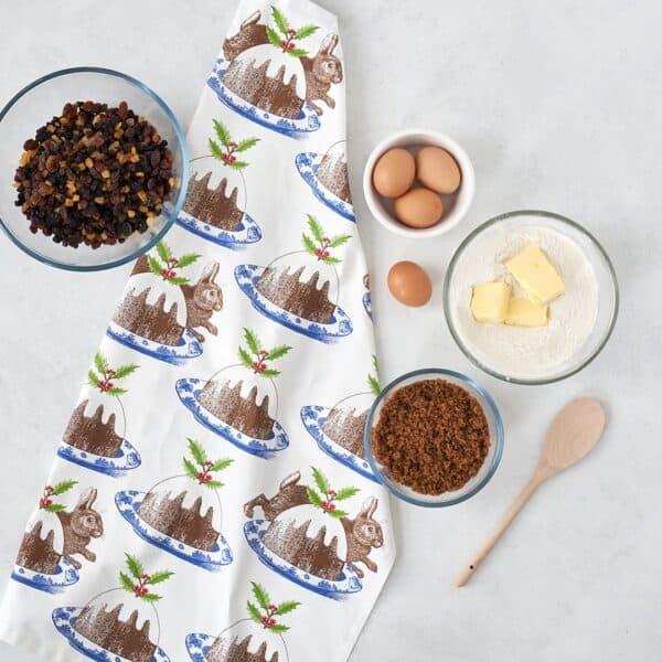 christmas pudding tea towel by thornback & peel