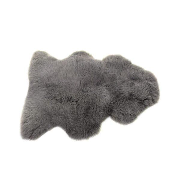 Sheepskin rug in slate grey by baa stool