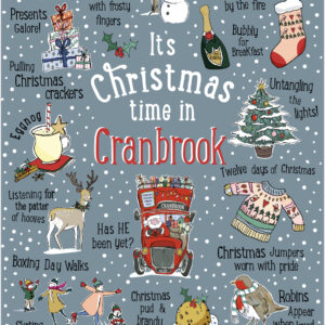 Its christmas time in cranbrook tea towel by love your nation