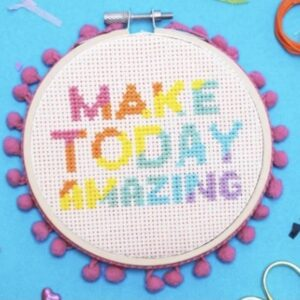 Make today amazing cross stitch kit by the mkae aracde