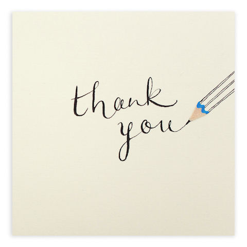 Thank you penvil card by ruth jackson