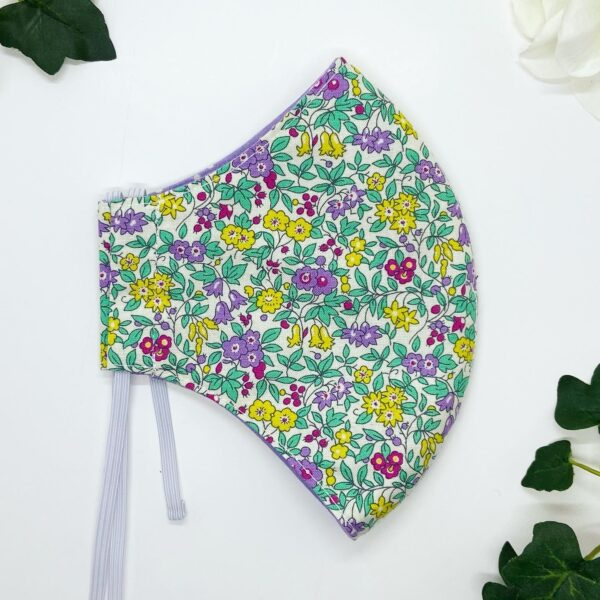 Green floral liberty face mask by sarah louise hardwick