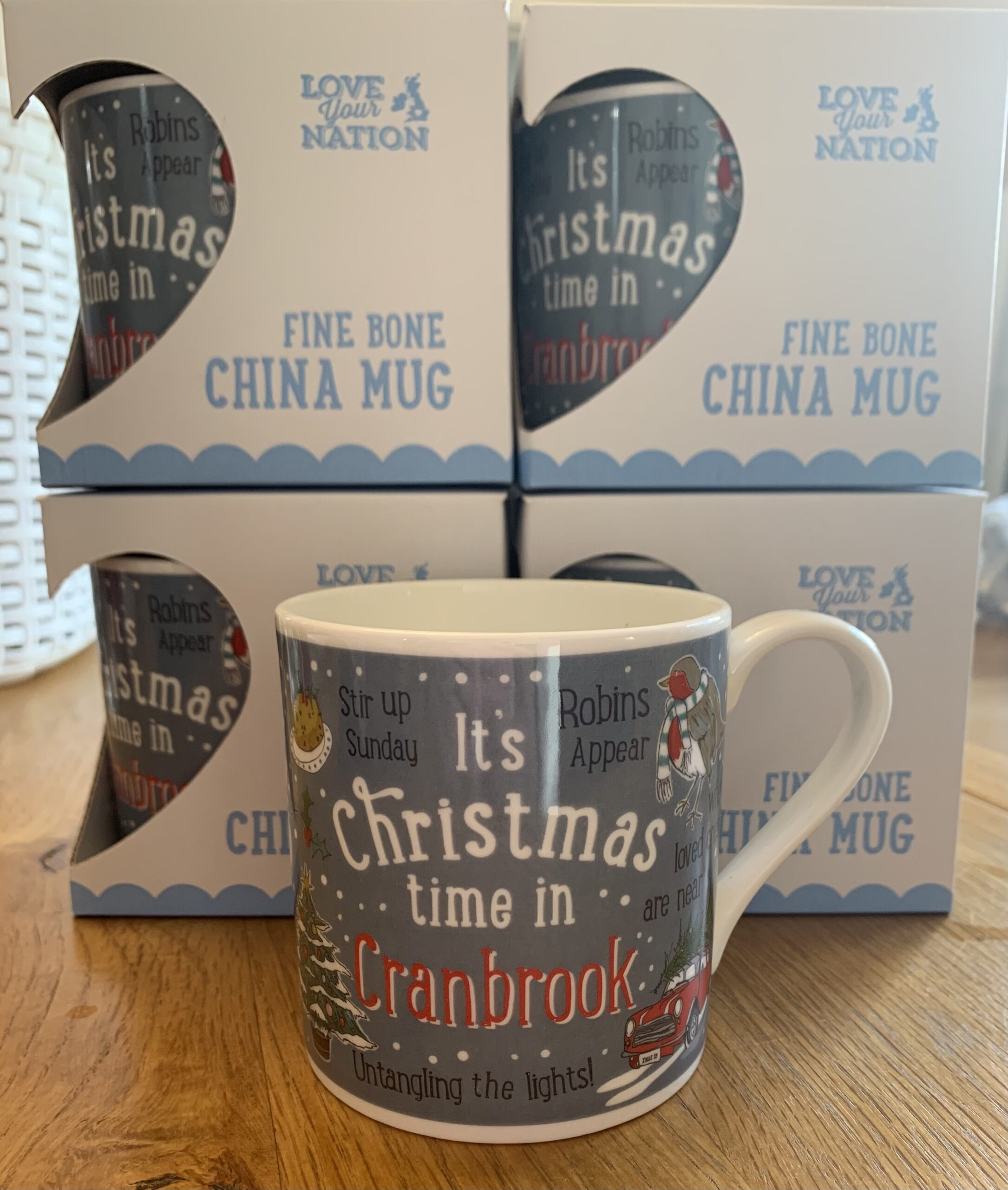 Its christmas time in cranbrook mug by love your nation