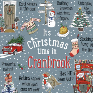 Its christmas time in cranbrook greeting card by love your nation