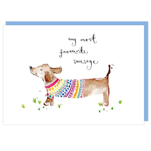 My most favourite sausage card by louise mulgrew