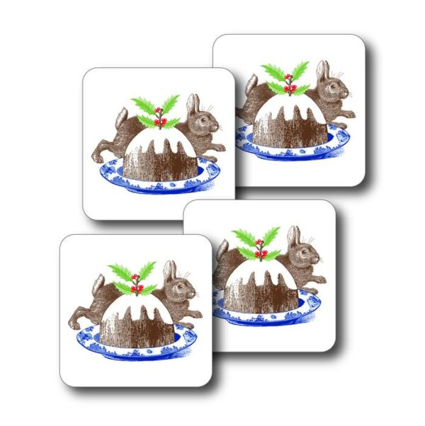 Christmas pudding coasters by thornback & peel
