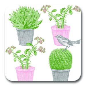 Cactus and bird potstand by Thornback & Peel