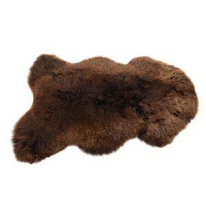 Chocolate sheepskin rug by baa stool