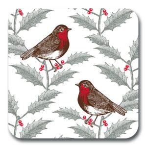 Robin & holly potstand by Thornback & Peel