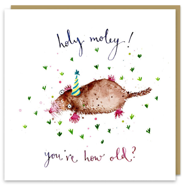 Holy moley card by louise mulgrew