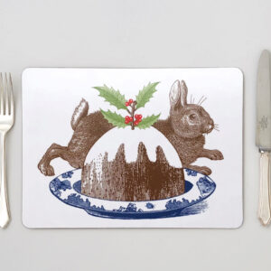 Christmas pudding placemats by thornback & peel