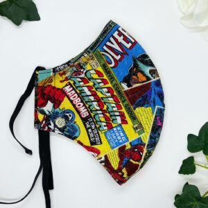 Marvel face mask by sarah louise hardwick