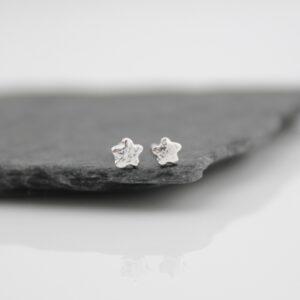 Mini flower studs by lucy kemp jewellery