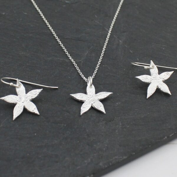 Handmade Sterling SilverJasmine Earrings by Lucy Kemp