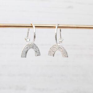 Handmade Sterling Silver Rainbow Hoops By lucy kemp jewellery