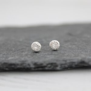 Handmade Sterling Silver Mini Circle Studs By lucy kemp jewellery