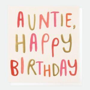 Auntie card by caroline gardner